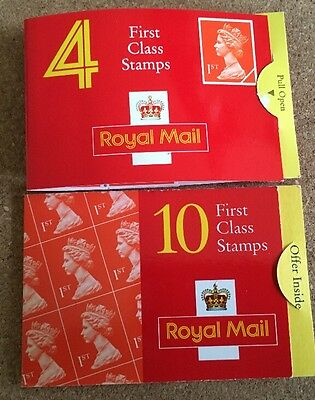 100 Royal Mail 1st class stamps in booklets
