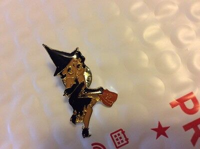 BETTY BOOP  Witch Halloween  HAT,LAPEL ,VEST PIN
