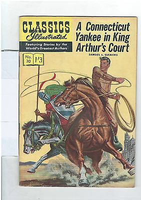 Classics Illustrated #30 (NO RESERVE) A Connecticut Yankee in King Arthurs Court