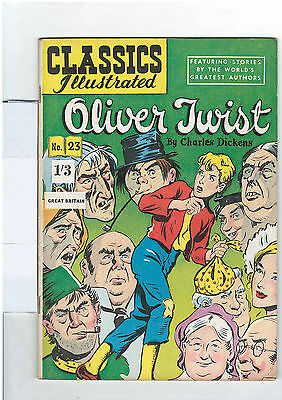 Classics Illustrated #23 (NO RESERVE) Oliver Twist - Charles Dickens