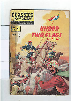 Classics Illustrated #86 (NO RESERVE) Under Two Flags - Ouida