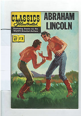 Classics Illustrated #87 (NO RESERVE) Abraham Lincoln