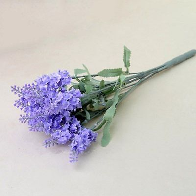 Artificial Silk Fake Flowers Floral Wedding Bouquet Party Home Decor Purple Colo