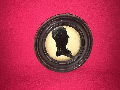 Antique 19th Century Silhouette of a Gentleman Framed