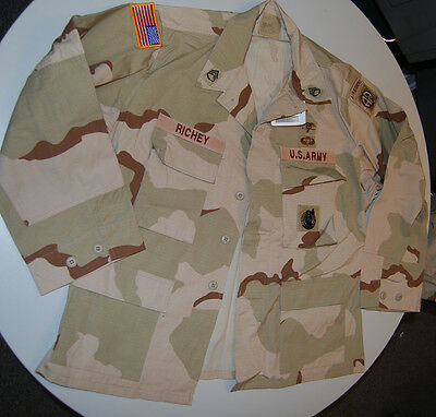 US ARMY Desert Camouflage Uniform DCU OIF Top Size Large Short