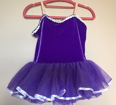 Curtain Call Costumes size CLA Large Purple Tutu Dance ballet dress up party