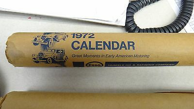 Vintage Esso Calendar 1972 Great Moments In Early American Motoring unused