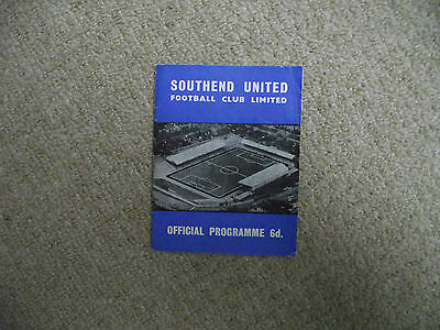 1964-65 Southend United v Hull City  League Cup 2nd Round Replay
