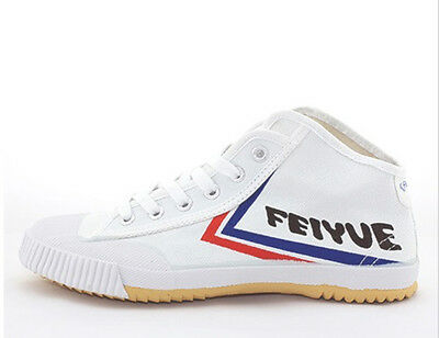 White Feiyue HI TOP Wushu / Kung Fu shoes. FREE UK postage