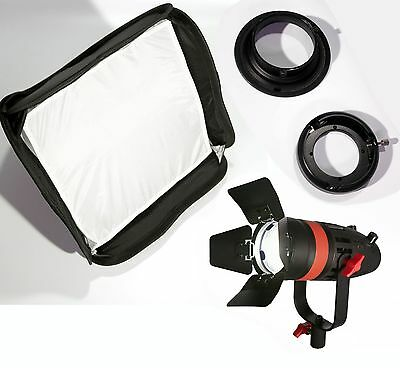 Boltzen 55w Fresnel Focusable LED / Softbox / Speedring / Speedring Adaptor