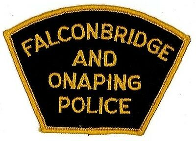 Falconbridge and Onaping Police shoulder patch, UNUSED