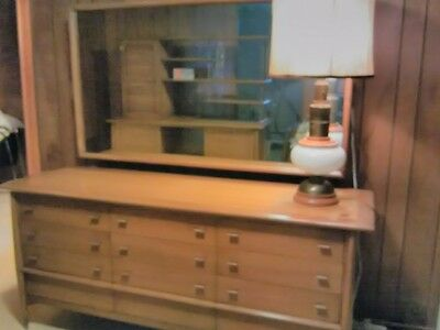 Rway furniture Mid Century Modern  Swedish Modern bedroom bureau with mirror