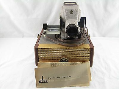 Rare Vintage Sears Roebuck Tower 300 Slide Projector #6350 w/Case & Slides/ Mag.