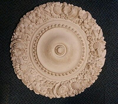 CEILING ROSE CENTRE Made From Plaster for Renovations Restorations 520 x20mm