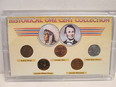 Historical One Cent Collection 5-Coin Set