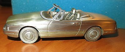 Vtg 1987 Cadillac Allante Model Handcrafted in Pewter DETAILED Cadi