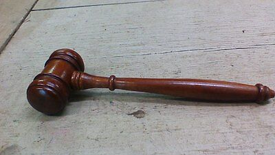 Vintage Collectible Wooden Wood Judge Mallet Gavel Auctioneer hammer NICE!