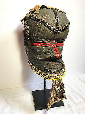 Magnificent Collectible Kuba Tribal Bwoom Mask With Exquisite Beadwork Details