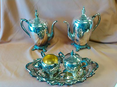 Vintage FB Rogers 1083 Silver Plated Coffee and Tea Set (5 pcs)