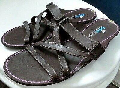 Womens TIMBERLAND Earthkeepers brown leather sandals. Size 7 41 Ex condition