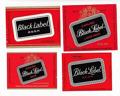 15 diff CARLING beer bottle labels BLACK LABEL TUBORG
