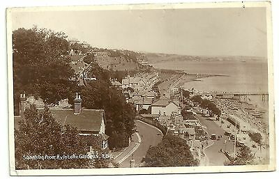 Isle of wight postcard Shanklin from Rylstone Gardens