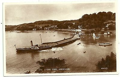 Fife postcard Aberdour The Stone Pier