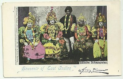 Indonesia postcard  East Indies  Ethnic Indische Schauspieler