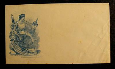 Civil War Patriotic Cover-Lady Liberty With Flag And Staff