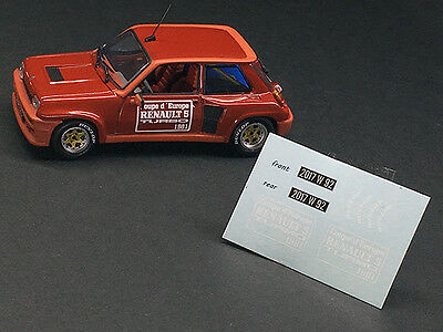 MaxiCollection decals Renault 5 Turbo Coupe1980 1/43 scale