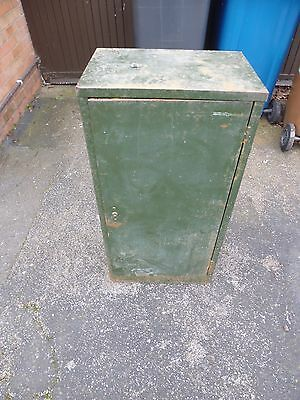 Vintage, Industrial Green Metal Cabinet - Cupboard - Office Cabinet