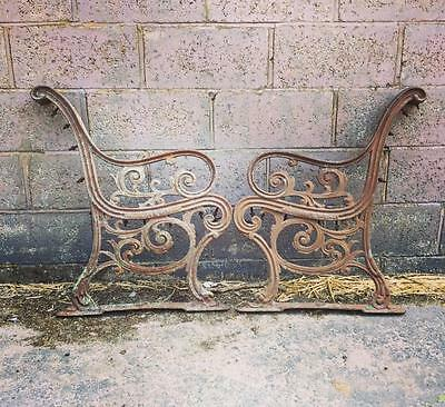 White Star Line Rms Olympic Titanic Era Cast Iron Deck Bench Ends C-1911