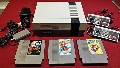 Nintendo NES Console System w/ 3 games cleaned & Refurbished 72 Pin