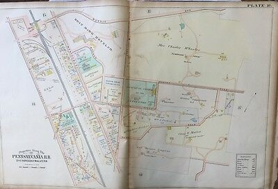 1900 Montgomery County Pa Episcopal Church Of Redeemer Bryn Mawr Hotel Atlas Map