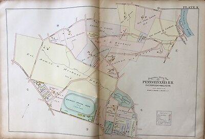 1900 Lower Merion, Montgomery County, Pa, Belmont Driving Park, Copy Atlas Map