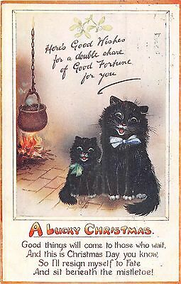POSTCARD  GREETING  CHRISTMAS   Cats  Related        TUCK