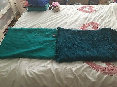 Ladies Pack Of 2 Shawls/scarfs By River Island Green