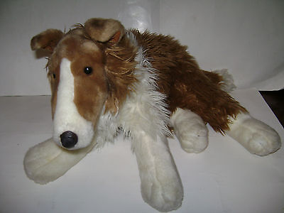 """by ANIMAL ALLEY 1999 LASSIE the Collie Dog Plush Stuffed 22"""" VERY RARE"""