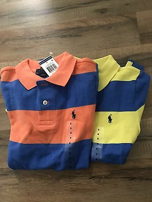 (2) NWT Ralph Lauren Boy's Stripe Short- Sz. 6