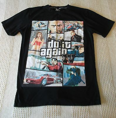Grand Theft Auto, Mens Black T-Shirt , Size L (Large) 100% Official