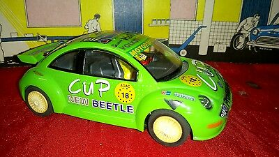 Scalextric Car, Green Vw Beetle Rally, New Beetle Cup
