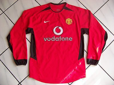Vintage 2002-04 MANCHESTER UNITED Home Shirt L/S Nike Small Excellent
