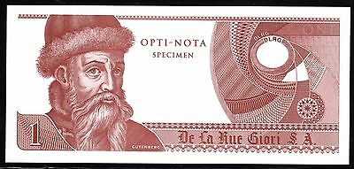 Slania Engraved Gutenberg Test Note For Giori Press Mint Condition (Brown)