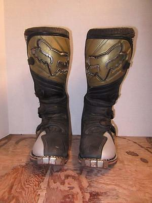 Fox Racing Forma Pro Motorcycle Riding Boots Mens 8 Motocross Dirt Bike Off Road