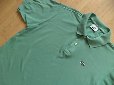 Mens Lacoste Polo Shirt Top Short Sleeve Size 5 L Green
