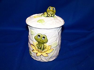 Rare 1978 Neil The Frog White Canister With Lid From Sears & Roebuck In GUC