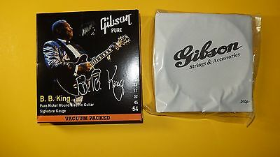 Gibson BB KING Electric Guitar Strings Signature Gauge Package Collectors item