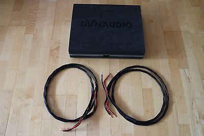 OCOS ULTRA DYNAUDIO Speaker cables 2.3m pair. Rare and difficult to find.
