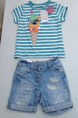 Next baby girls short and tee shirt bundle age 9-12 months