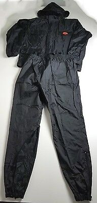 Men's Harley Davidson Pack-able Rain Suit Two Piece Suspenders Black Size XL